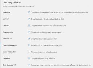 Chức năng diễn đàn - tạo diễn đàn bằng WordPress