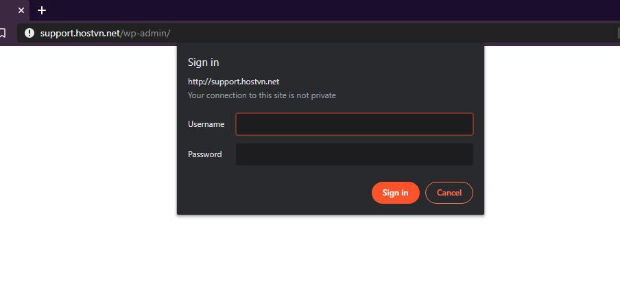 đặt mật khẩu hai lớp cho wp-admin