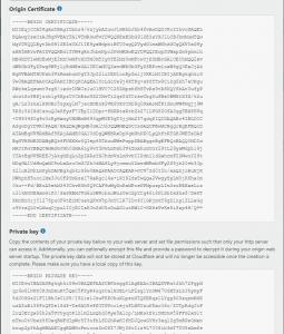 Origin Certificate - cài đặt SSL Cloudflare cho WordPress