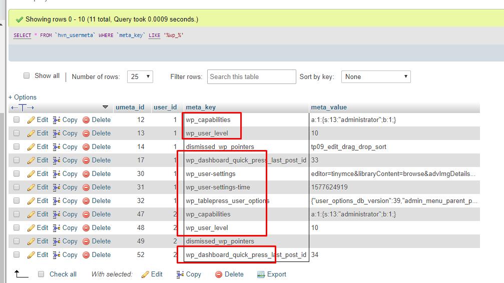 thay đổi Database Prefix cho WordPress