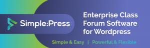 Simple: Press - create a forum using WordPress