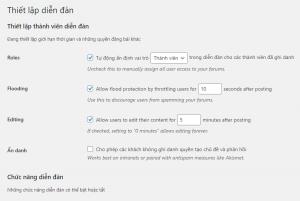 Thiết lập diễn đàn - tạo diễn đàn bằng WordPress