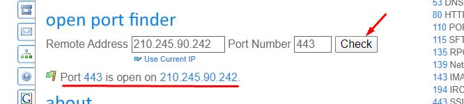 open port finder - SSL handshake failed
