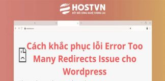 lỗi Error Too Many Redirects