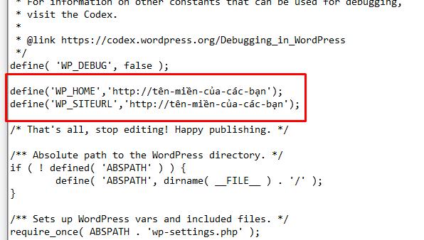 save file wp-config.php - hướng dẫn sửa lỗi WordPress