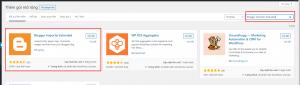 cài đặt plugins Blogger Importer Extended - chuyển Blog từ Blogger sang WordPress