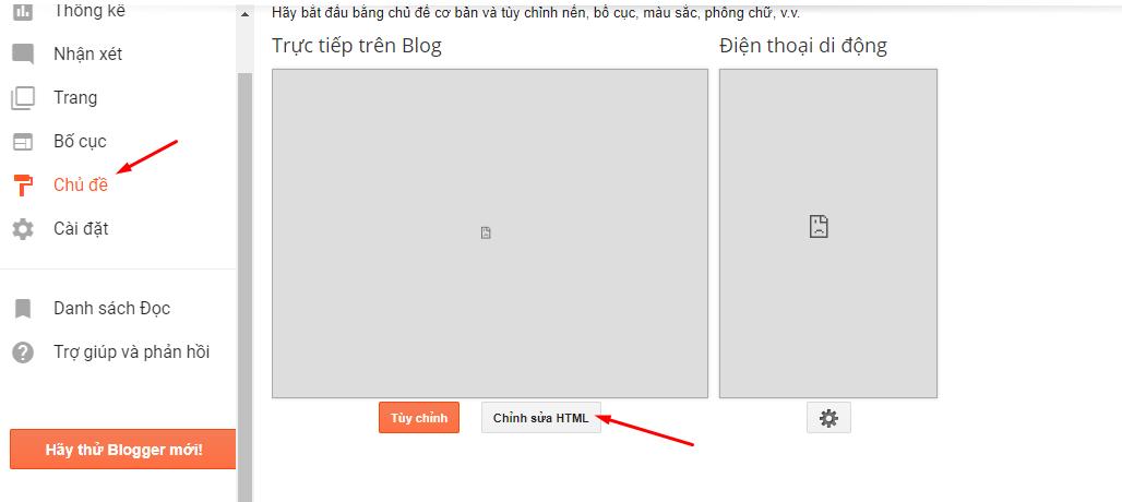 Chỉnh sửa HTML