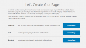 Let's Create Your Pages - tạo trang download cho WordPress