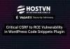 lỗ hổng bảo mật plugin code snippets