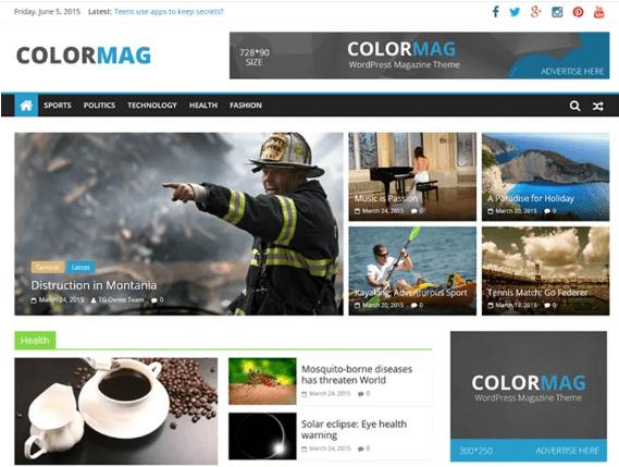 ColorMag - giao diện WordPress miễn phí