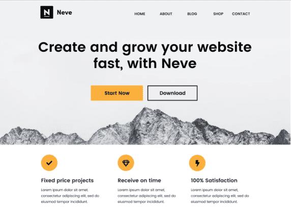 Neve - giao diện WordPress miễn phí
