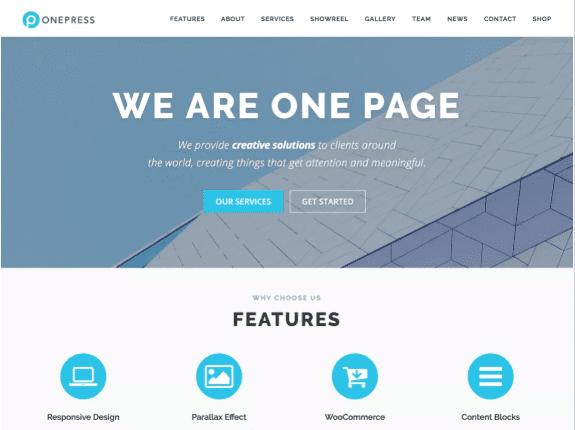 OnePress - giao diện WordPress miễn phí