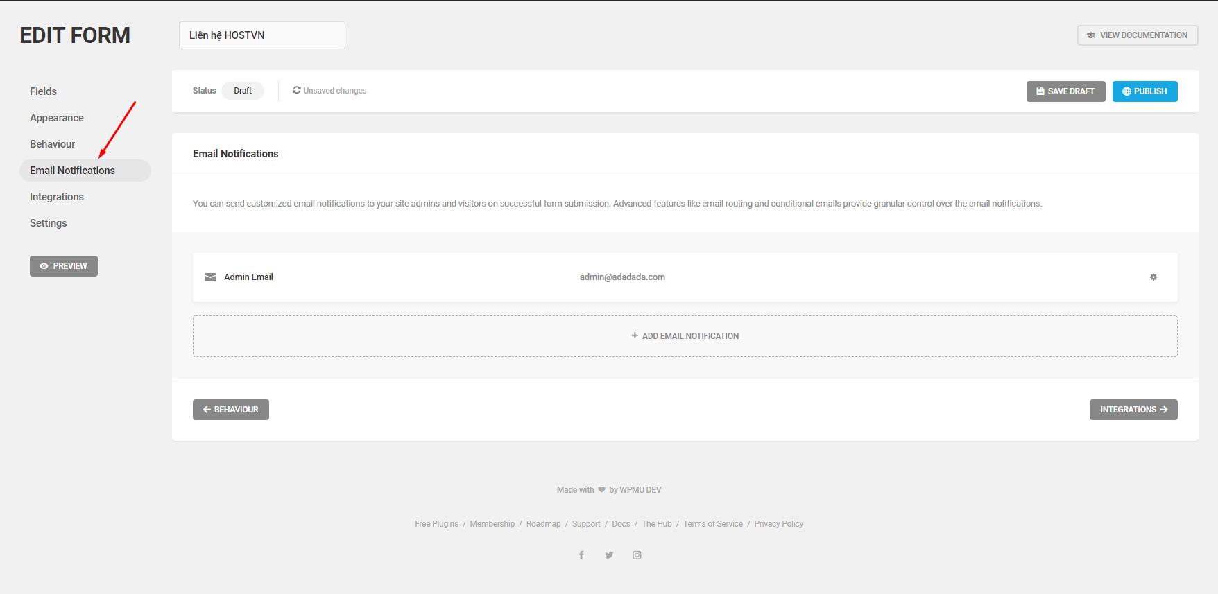 Screenshot_24 - tạo form liên hệ cho WordPress