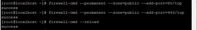 mở Port 80 và 443 trong Firewalld
