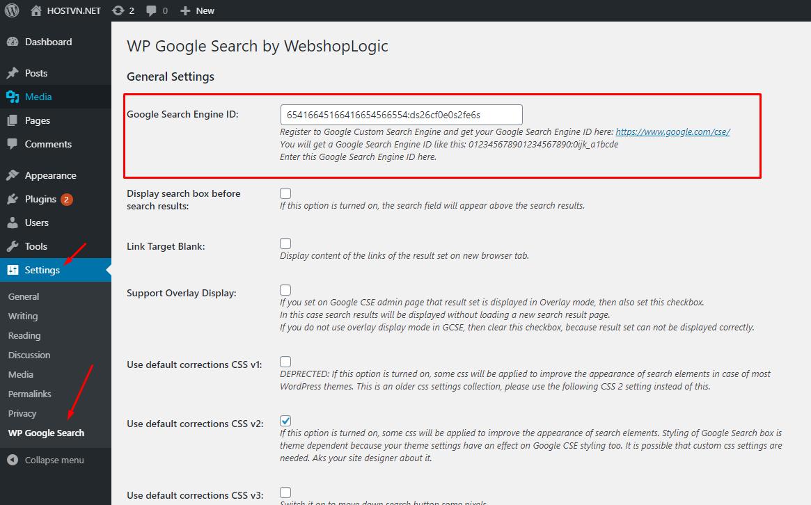 Screenshot_6 - thêm Google Search vào WordPress