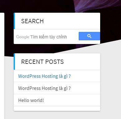 thêm Google Search vào WordPress