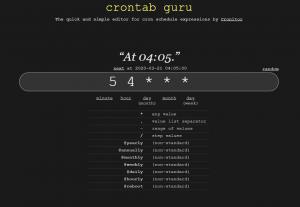 crontab.guru - create and test Cron Jobs