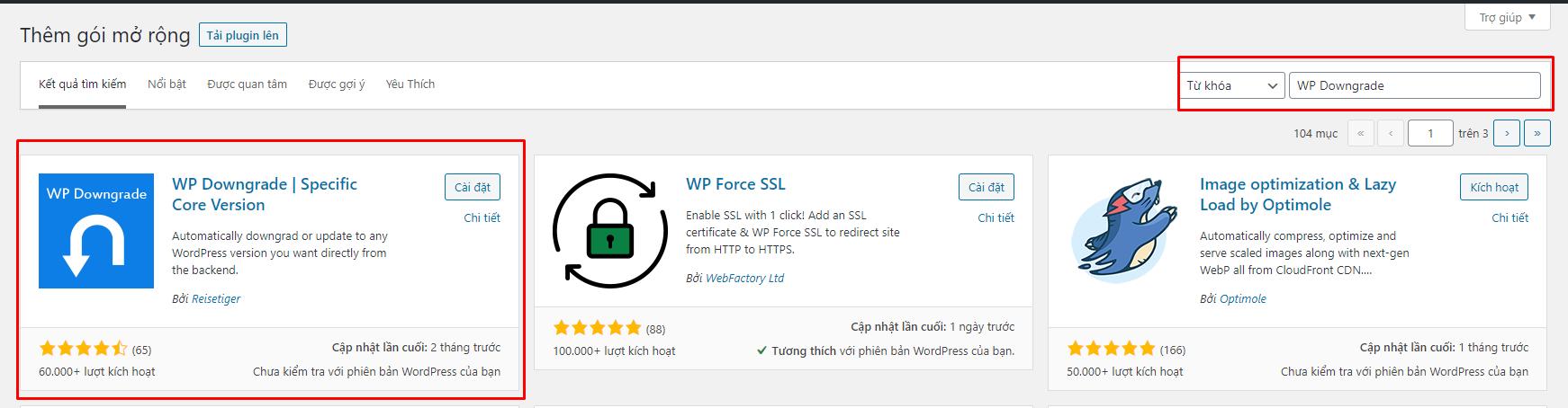 Screenshot_47 - hạ cấp phiên bản WordPress