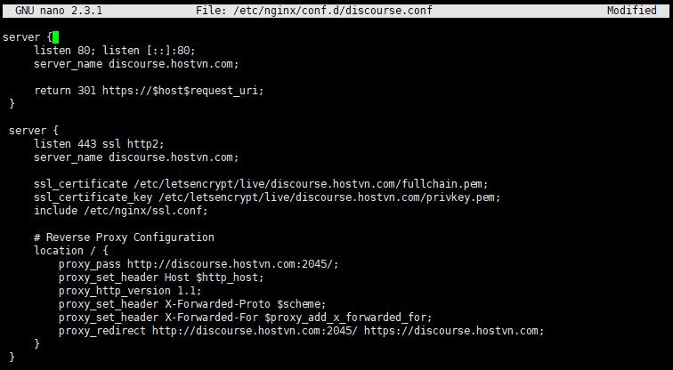 Screenshot_100 - cài đặt Discourse trên CentOS 7