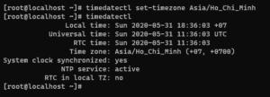 Screenshot_104 - thay đổi Timezone trên CentOS 8