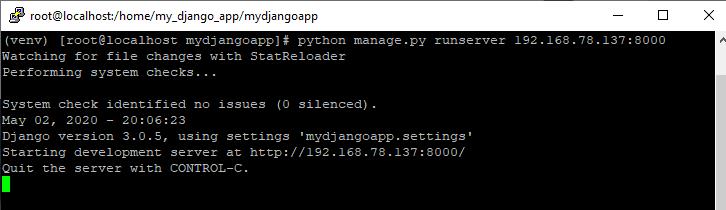 Screenshot_12 - cài đặt Django trên CentOS 7