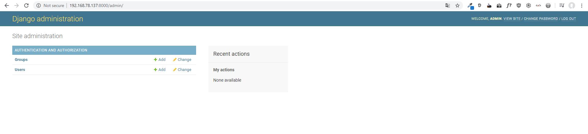 Screenshot_14 - cài đặt Django trên CentOS 7