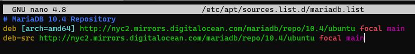 Screenshot_23 - cài đặt MariaDB trên Ubuntu 20