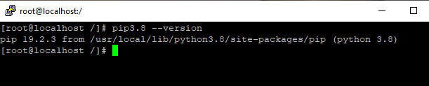 Screenshot_35 - cài đặt Python 3.8 trên CentOS 7