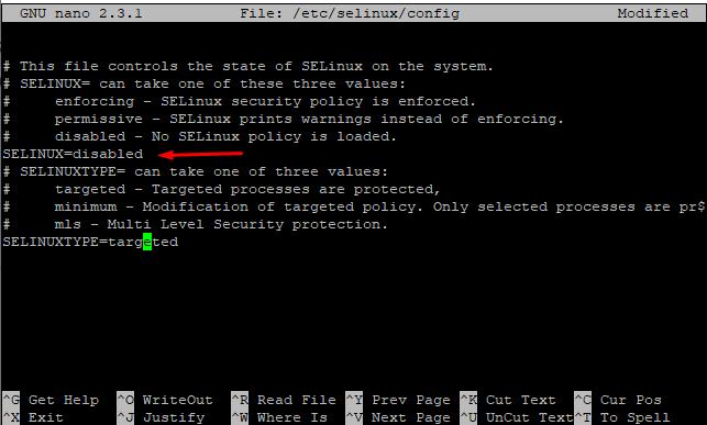 Screenshot_37 - tắt SELinux trên CentOS 7