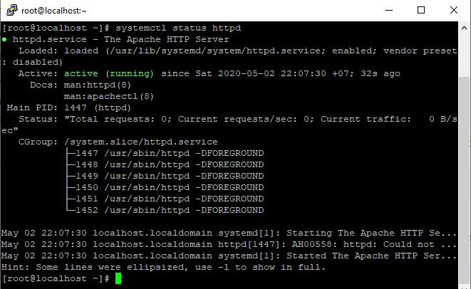 Screenshot_48 - cài đặt Apache trên CentOS 7