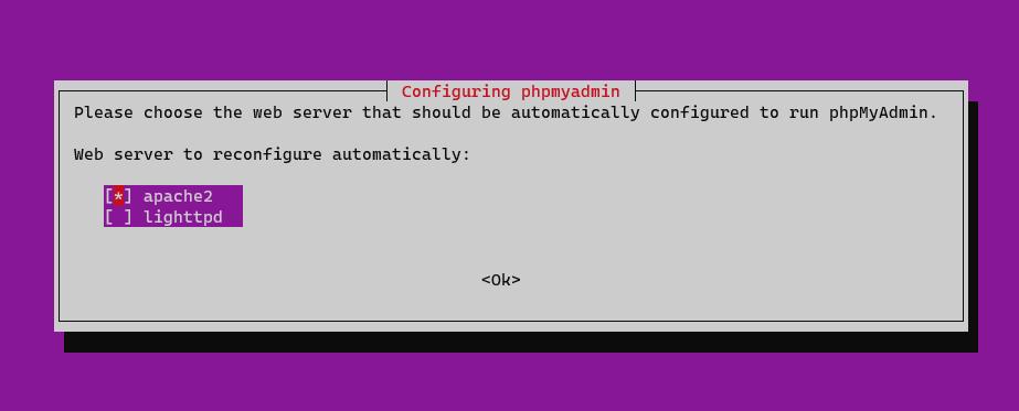 Screenshot_136 - phpMyAdmin với Apache trên Ubuntu