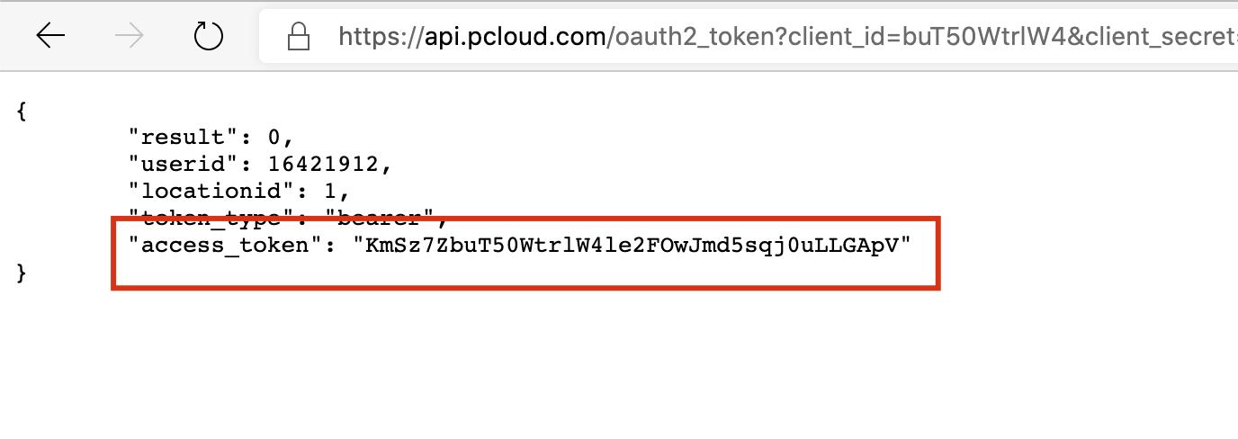 pcloud access_token