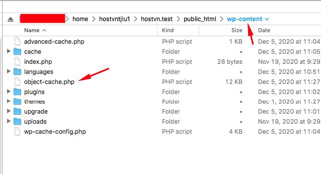 upload file - Cấu hình Memcached trên Hostvn Scripts