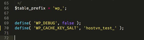 WP_CACHE_KEY_SALT - Cấu hình Memcached trên Hostvn Scripts