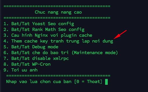 tạo cache key - Cấu hình Memcached trên Hostvn Scripts