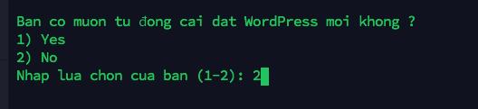 Auto install wordpress