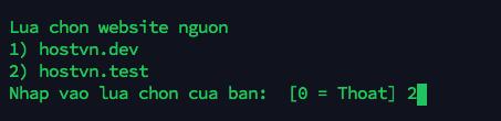 website origin - chức năng Clone website trên Hostvn Scripts