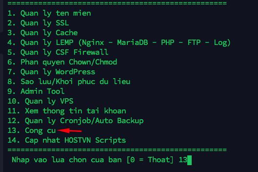 công cụ - upload WordPress từ localhost lên Hostvn Scripts