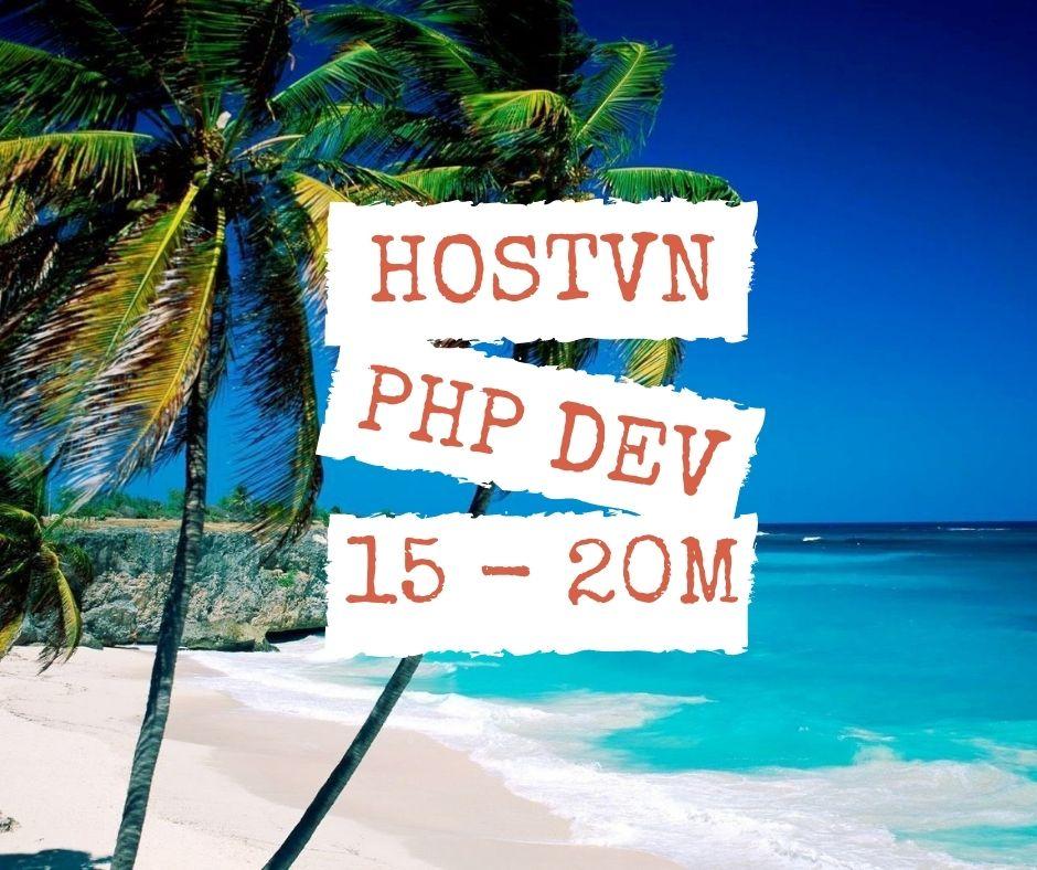 HOSTVN tuyển dụng lập trình viên PHP làm việc tại Hà Nội