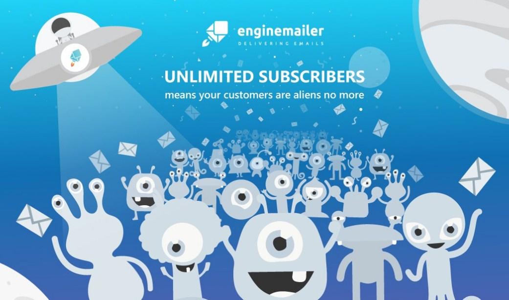 EngineMailer gây ấn tượng với tính năng không hạn chế subscribers