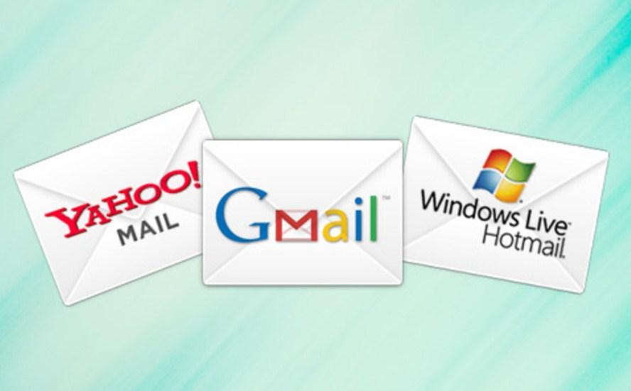 Gmail chiếm ưu thế và độ nổi bật so với Yahoo và Hotmail