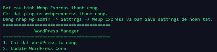 Bat cau hinh Webp Express thanh cong