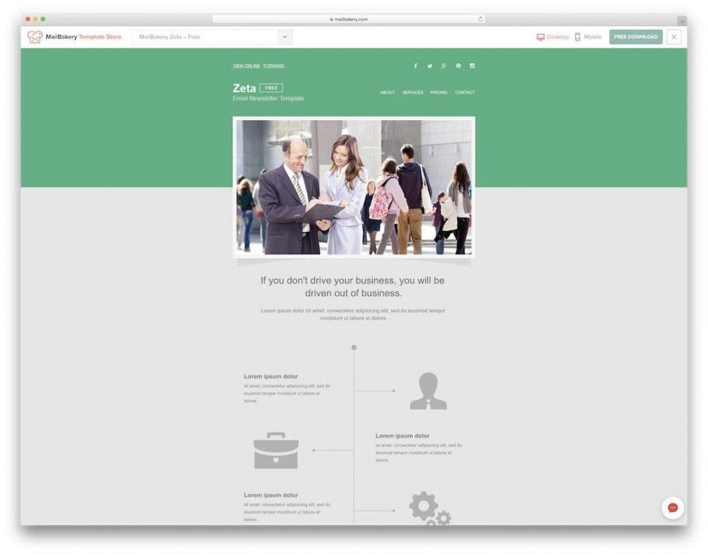 mẫu email marketing đẹp, miễn phí 2021