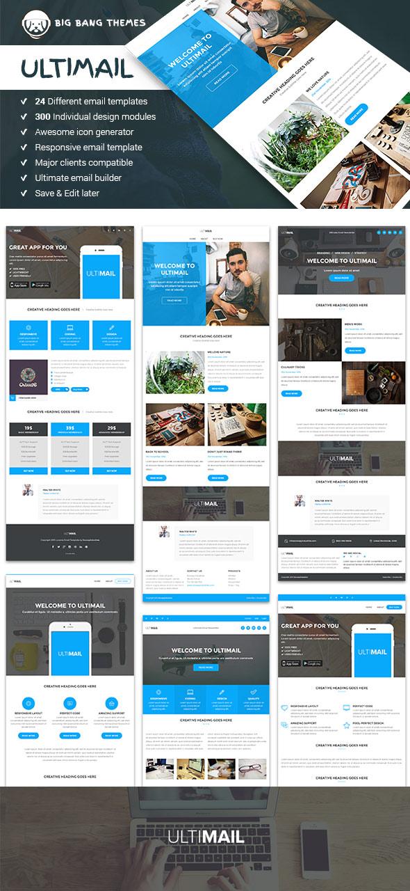 Ultimail là một trong những thiết kế email marketing đẹp ấn tượng
