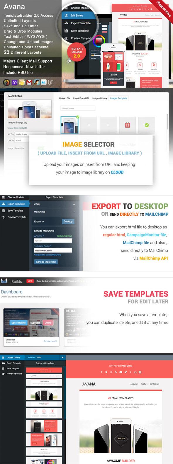 Avana là một thiết kế email template đặc sắc