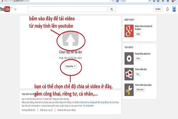 Bạn có thể truy cập vào trang Youtube để xem video mình mới tải lên