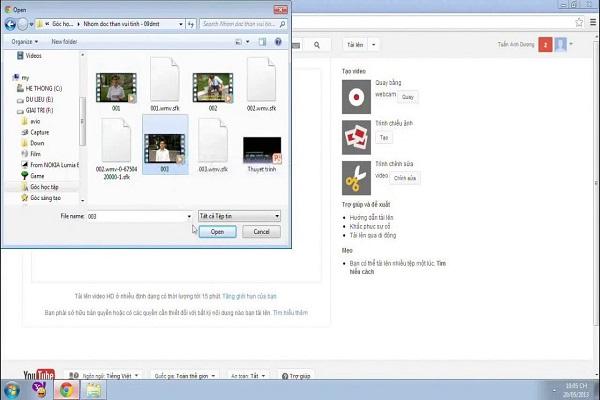 Cần lưu trữ video của mình trên nền tảng của Youtube