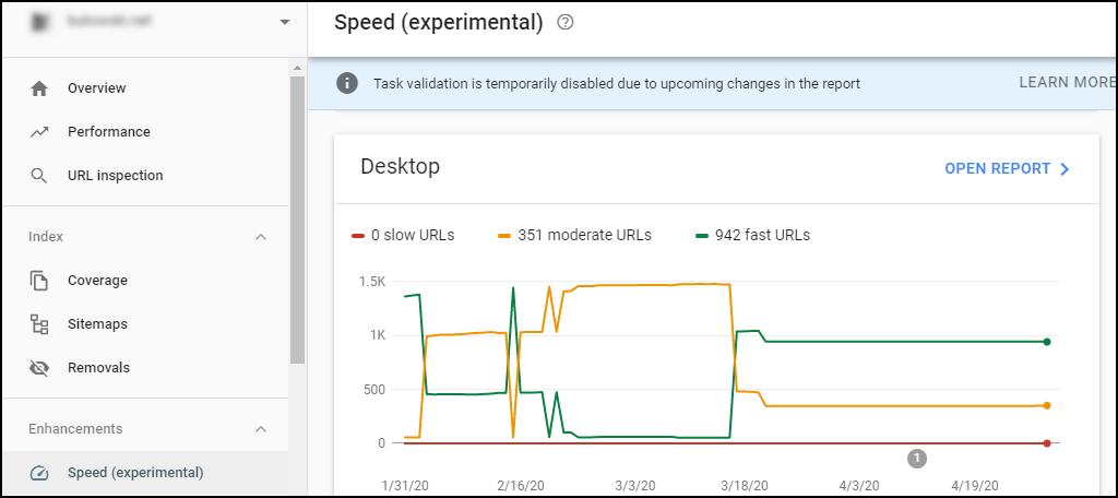 """Nó biểu thị tốc độ tải trang """"Chậm"""", """"Trung bình"""" và """"Nhanh""""."""