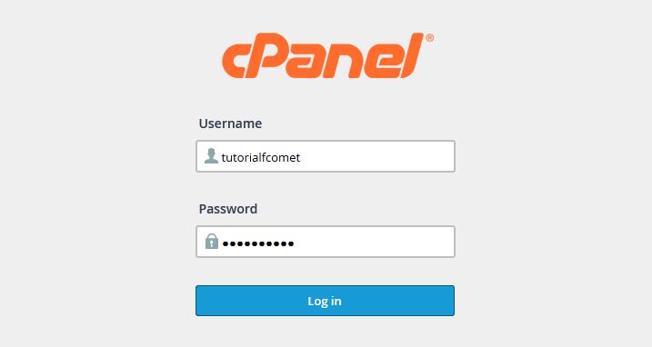 Đăng nhập vào cPanel và nhận bản sao lưu các tệp