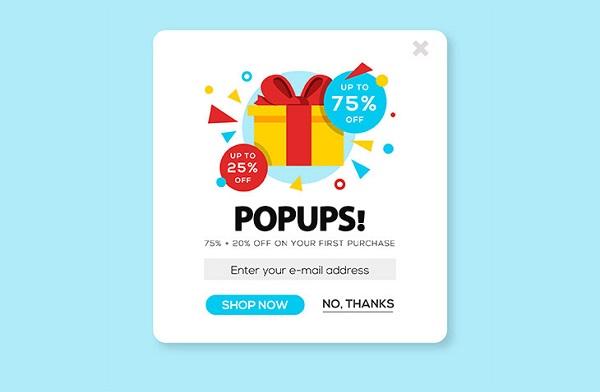 Pop - up là dạng quảng cáo logo dưới chân màn hình hiển thị
